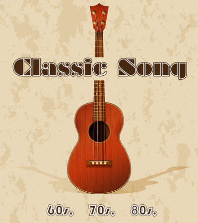the old days: Classic song poster in the old days Illustration