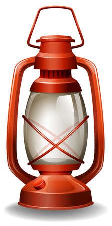 Close up oil lamp in classic design Illustration
