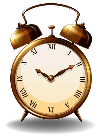 numeros romanos: Reloj de estilo antiguo en el fondo blanco Vectores