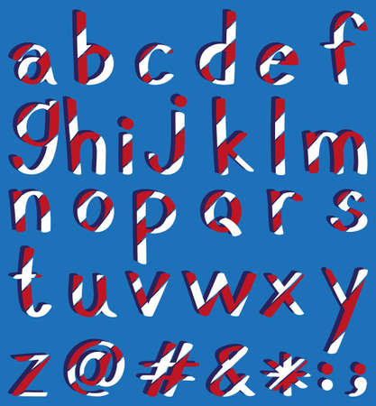 phonetic: Poster of English alphabets A to Z Illustration
