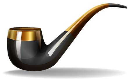 closeup: Closeup klassische Design der Tabakspfeife
