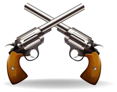 antique pistols: Two pistol guns in classic design