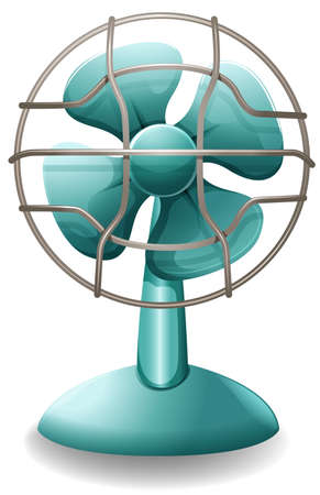 Close up plain design of electric fan