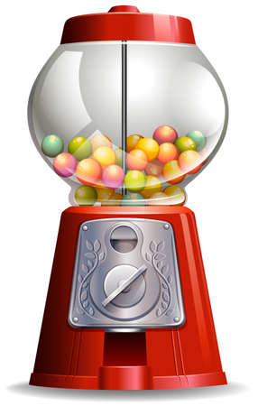 Close up antigue design of candy machine