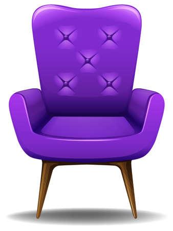 Close up luxury design of purple armchair Illustration