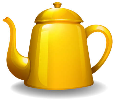 Close up simple design of yellow kettle