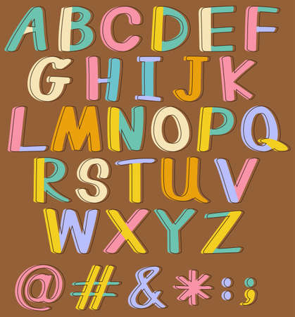 phonetic: Banner of English alphabets A to Z Illustration