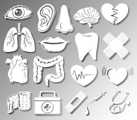 related: Poster showing medical related symbols