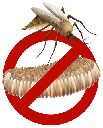 stop mosquito sign: Sign of no breeding mosquito