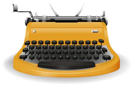 Sluit omhoog schrijfmachine met klassiek design Vector Illustratie