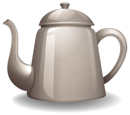 chinaware: Kettle with lid in simple design