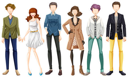 fashion design: Modern fashion for man and woman Illustration