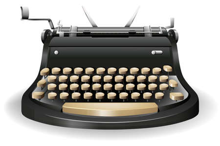 closeup: Closeup typewriter in classic design Illustration