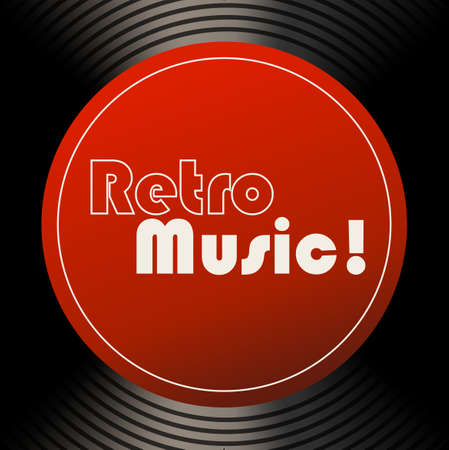 oldies: Retro music sticker on the recorder Illustration