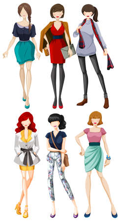 models: Female models wearing fashionable clothes