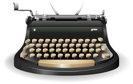 Close up typewriter with no paper Vector