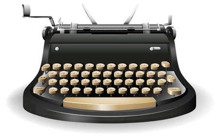 Fermez jusqu'à la machine à écrire sans papier Banque d'images - 40710979