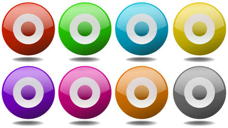 targets: Round targets in eight different colors Illustration