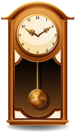 numbers background: Vintage style clock on a white background