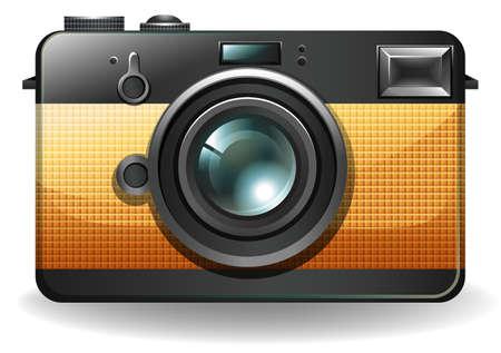 Retro stlye camera on a white background Vector