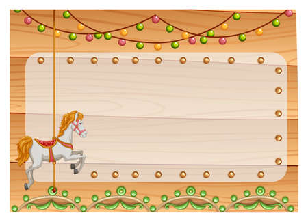 merry go round: Poster of a merry go round with decorations