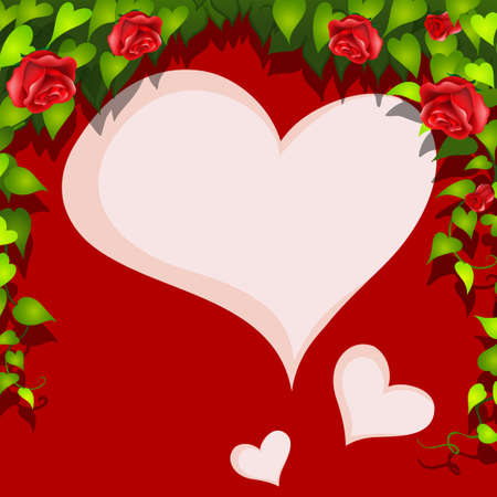 blank space: Heart shape blank space with valentine theme frame Illustration