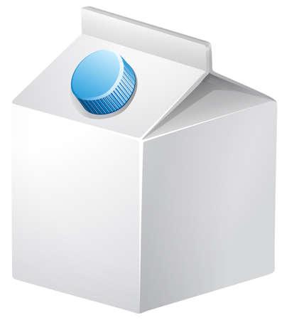 carton de leche: Blanco cartón de leche con tapa azul