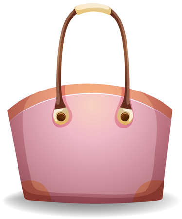 smart woman: Purple female bag on a white background