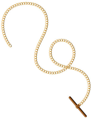 curve: Vintage design of golden chain Illustration