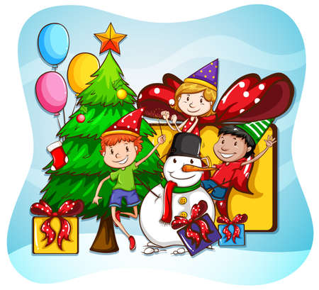 35,722 Children Christmas Stock Vector Illustration And Royalty ...