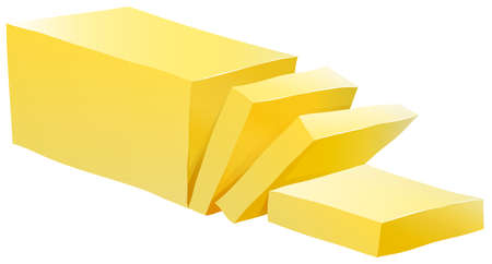 Bar of butter with some slices