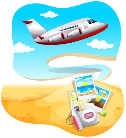 travelling: Traveling to a beach by aeroplane