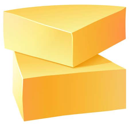 Two bar of organic cheese
