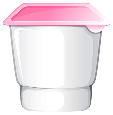 no label: Yogurt cup with no label Illustration