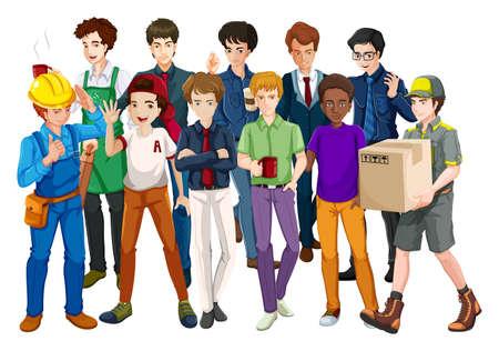 Les gens qui travaillent dans leur uniforme Banque d'images - 42301896