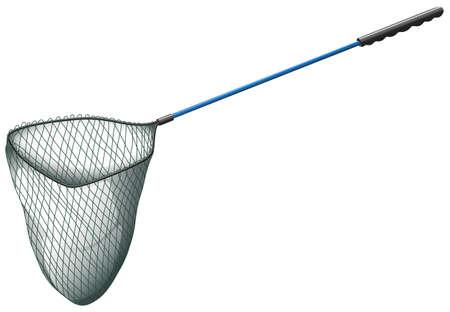 fishing net: Fishing net with long handle Illustration