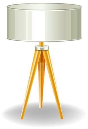 modern lamp: Modern lamp with yellow legs Illustration