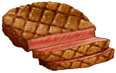 rare background: Ribeye steak cooked in medium rare
