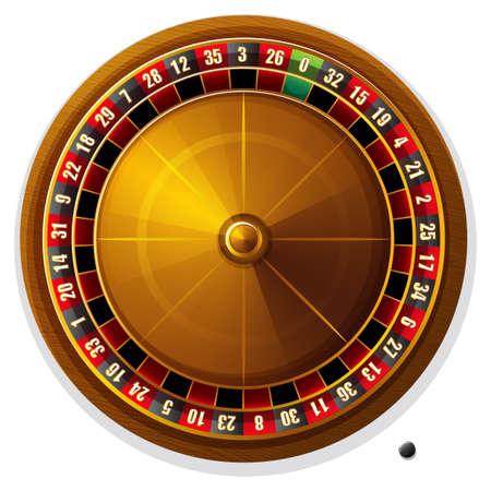 roulette: Primo piano ruota della roulette e palla