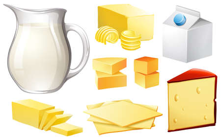 milk products: Milk in jar and other dairy products