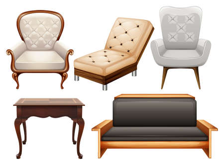 Different kind of chairs in luxury designs