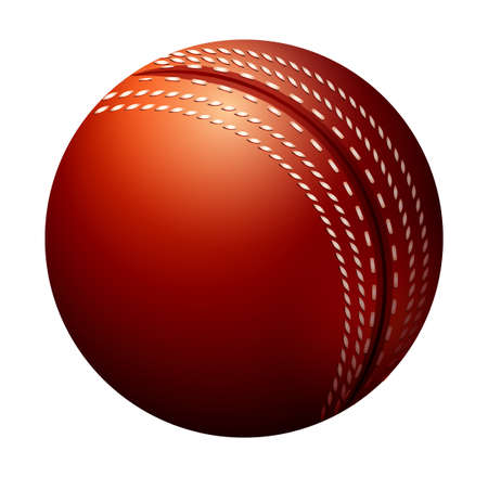 red ball: Single cricket ball made of leather