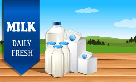 advertisement: Milk advertisement with text illustration