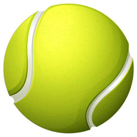 Single light green tennis ball illustration