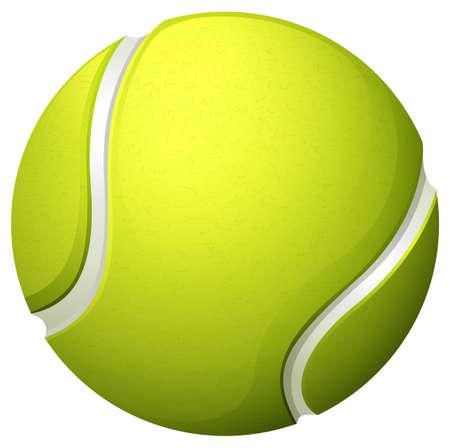 Luz individual de tenis verde ilustración de la bola Vectores