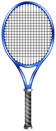 racquet: Blue racquet for tennis or squash illustration Illustration