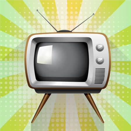 funky background: Retro tv on funky background illustration Illustration