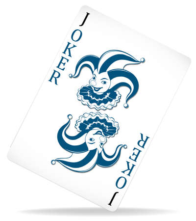 joker playing card: PLain joker with original design illustration