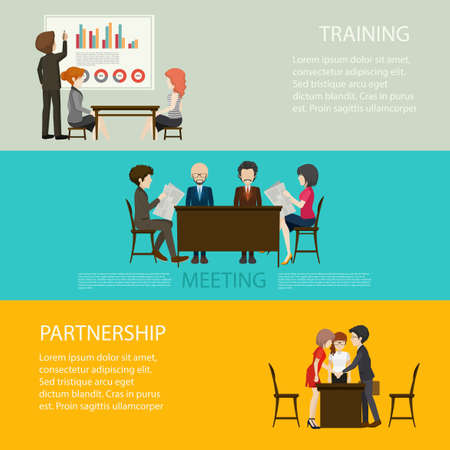 business style: Business style infographic with people illustration