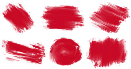 isolated on red: Six styles of painting in red Illustration